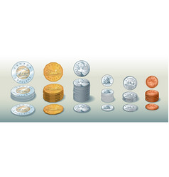 Canadian coins vector