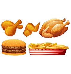 Chicken and fast food vector image