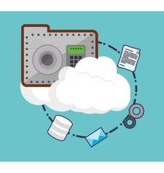 Cloud computing web hosting design vector