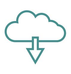 cloud icon download vector image