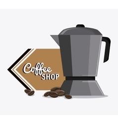 Coffee kettle pot shop beverage icon vector