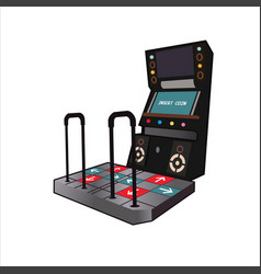 Dancing game console vector