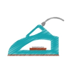 drawing steam iron household vector image