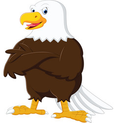 eagle cartoon posing vector image