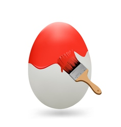 egg painted with a brush vector image