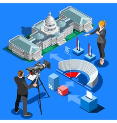 Election Infographic Presidential Isometric vector