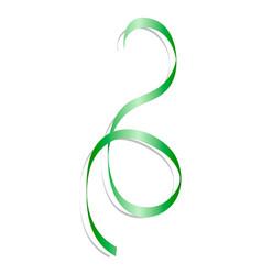 festive green ribbon mockup realistic style vector image