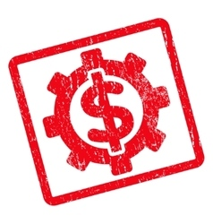 Financial Options Icon Rubber Stamp vector image