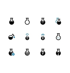 Flacon duotone icons on white background vector