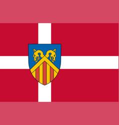 Flag of west zealand in zealand region of denmark vector