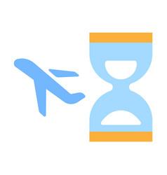 Flight delay flat vector