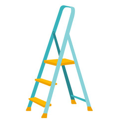 folding step ladder cartoon vector image