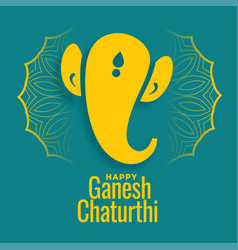 Ganesh chaturthi festival card wishes background vector