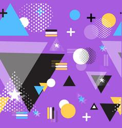 geometric flat shape pattern vector image