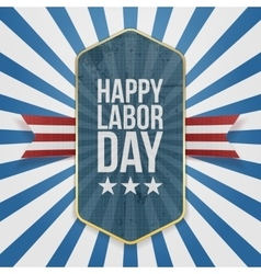Happy Labor Day Text on Badge vector