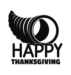 happy thanksgiving corn logo simple style vector image