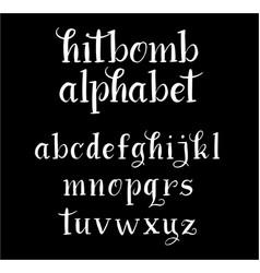 Hitbomb alphabet typography vector