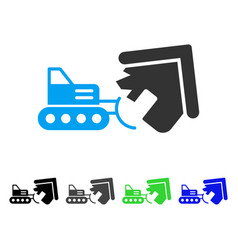 House demolition flat icon vector