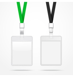 Lanyard with tag badge holder vector