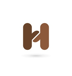 Letter H coffee logo icon design template elements vector image