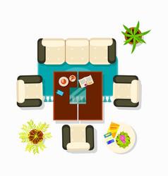 living room interior decor vector image