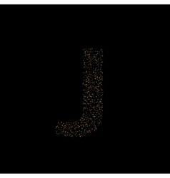 Magic J letter vector image