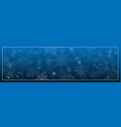 merry christmas decorative design with snowflake vector image