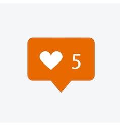 modern like orange icon on white vector image