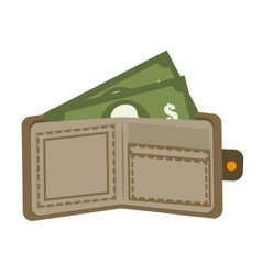 Money and investment isolated flat icon vector image