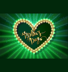 mothers day typographic card green version vector image