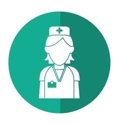 nurse staff care clinic uniform hat cross with vector image