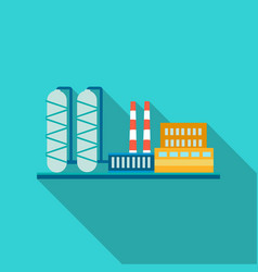 oil refinery factory icon in flat style isolated vector image