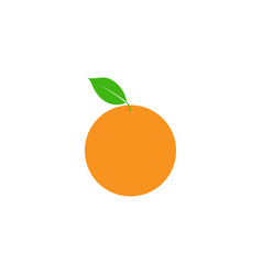 orange fruit clip art graphic design template vector image