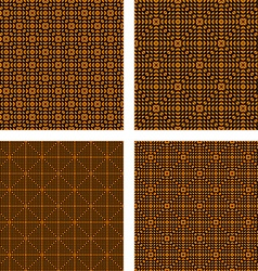 Orange triangle pattern set vector