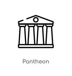 Outline pantheon icon isolated black simple line vector