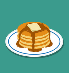 Pan cake in flat style isolated vector