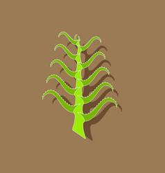Paper sticker on stylish background plant aloe vector