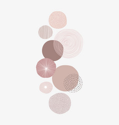 Pastel pink round patterned background vector