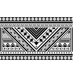 Polynesian ethnic seamless long pattern vector