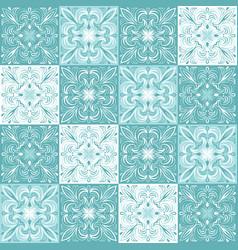 portuguese azulejo ceramic tile pattern vector image