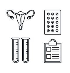Pregnancy maternity medical equipment elements vector