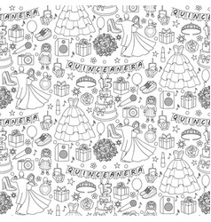 quinceanera seamless pattern vector image