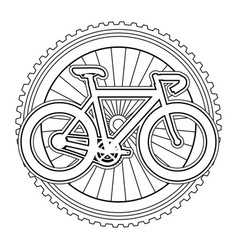 racing bicycle with wheel vector image