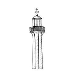 retro lighthouse logo template design vector image