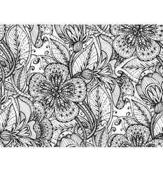Seamless pattern with hand drawn fancy vector