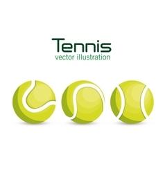 set ball tennis sport graphic vector image vector image