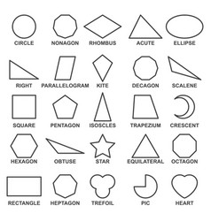 Set of basic geometric shapes advance vector