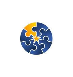 teamwork logo design template vector image