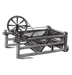 The spinning jenny vintage vector