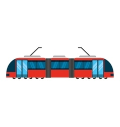 tram transport public service icon vector image